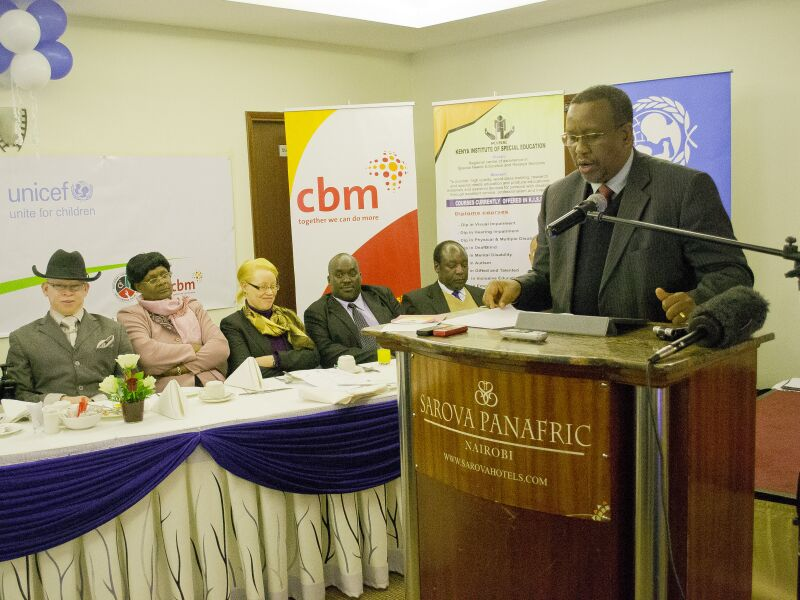 UNICEF Country Director, Marcel Rudasingwa giving his speech during the State of the World s Children 2013 report launch