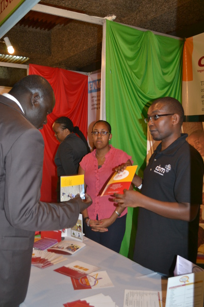 CBM East Africa Regional Office staff Interacting with visitors at the CBM exhibition tent during the Safaricom Foundation 10 yers celebration